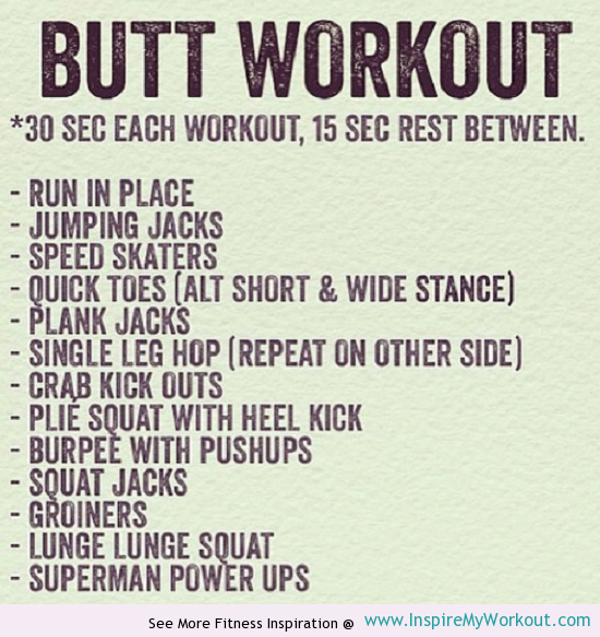 3 Bootylicious Workouts - InspireMyWorkout.com - A ...