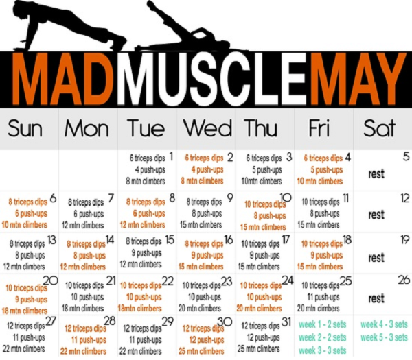 Mad Muscle May - InspireMyWorkout.com - A collection of ...