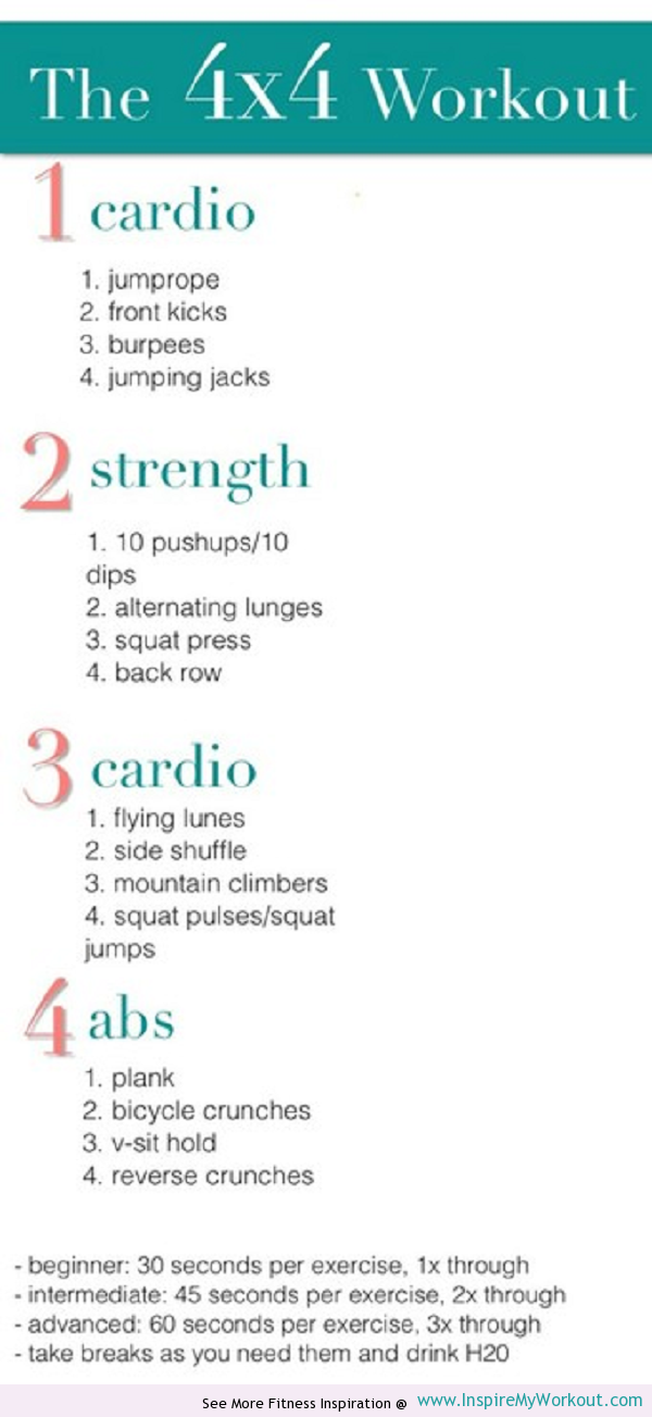 Here's a sample workout routine that you can do!