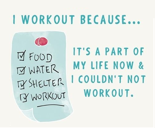 I Workout Because…