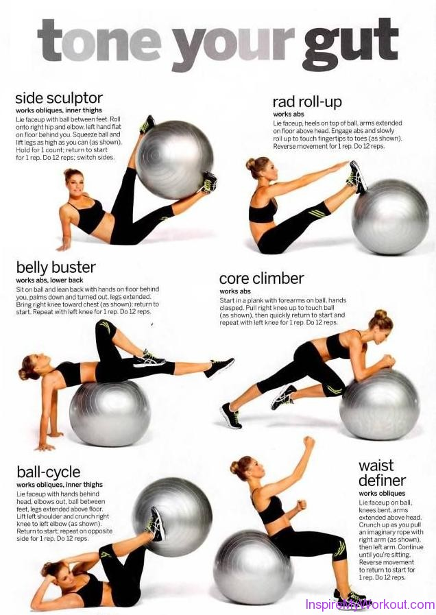 Use the Exercise Ball to Get Abs--and Tone Up Another Body Part Besides your Flat Belly recommend
