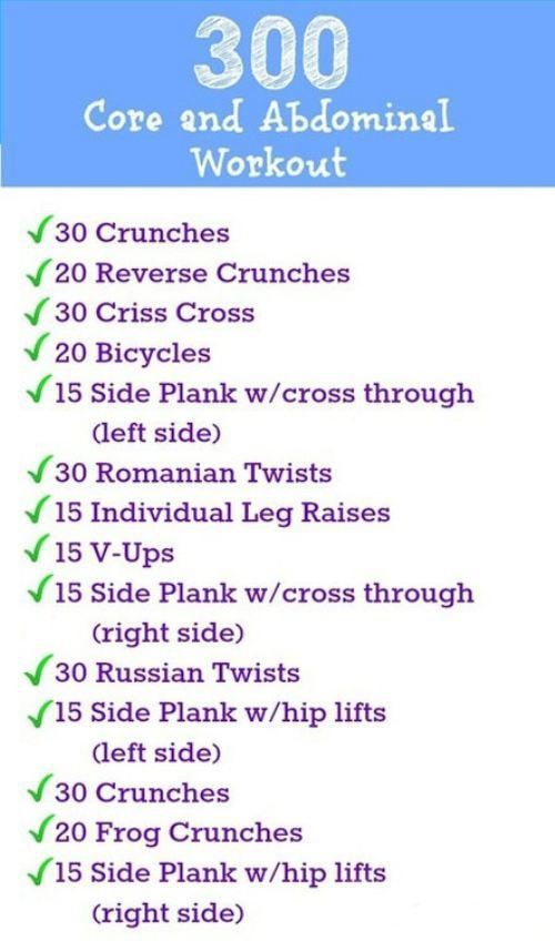 300 Core & Ab Workout - InspireMyWorkout.com - A ...
