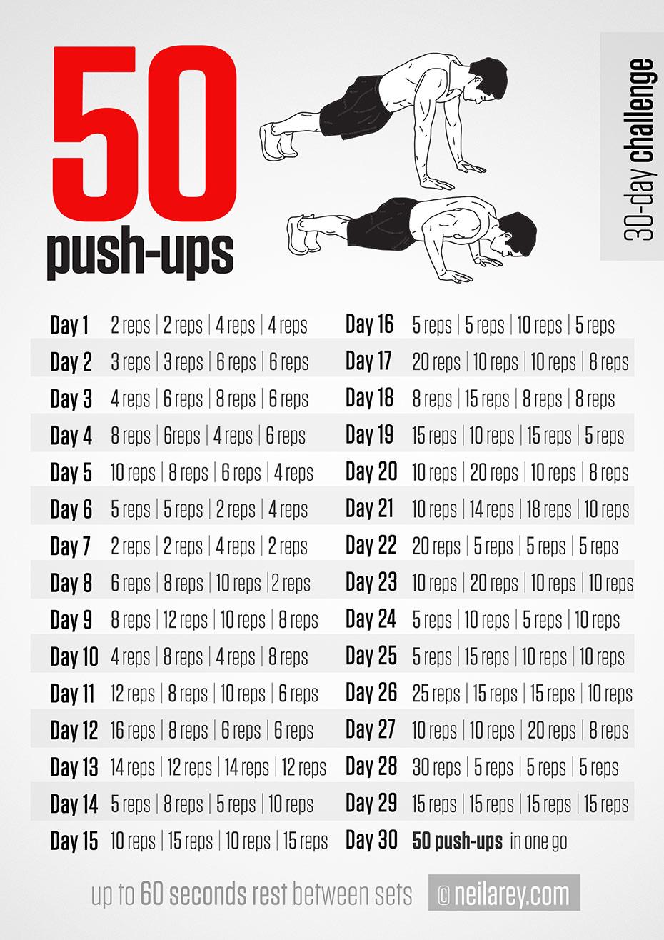 50 Push-ups Challenge - InspireMyWorkout.com - A ...