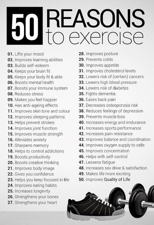 50 Reasons to Exercise - InspireMyWorkout.com - A ...