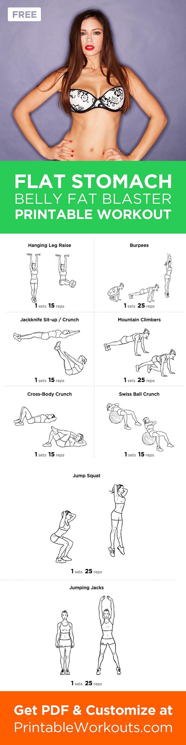 flat stomach workouts - photo #5
