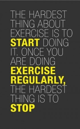 Exercise is Hard to Stop